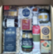 curated, custom, gourmet gift box. pasta, pickles, salami, crackers, mustard, olives, salt, candle, chocolate, nuts, fruit, jam, toffee. local, artisan, small batch makers. best of the best, high quality, high end. shipping and delivery.  holiday gifts. gift baskets.