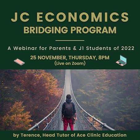 J1 Econs Headstart Webinar