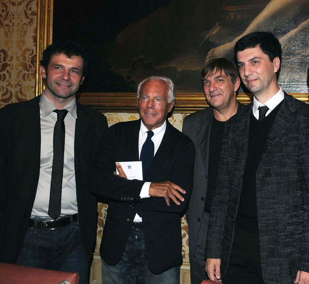 Arch. Luigi Benatti, Ing. Carlo Rotellini, Giorgio Armani