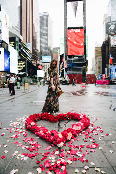 Times Square Floral Heart