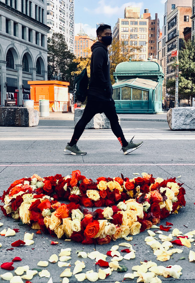 Astor Place Floral Heart