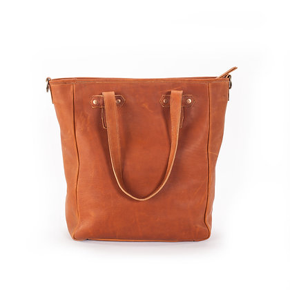 TOTE 2.0 LEATHER W/ JOEY CHARGER