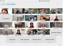 Screenshot of the PPPR and RCPR's virtual second joint colloquium