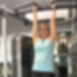 My great client Liza doing the hanging l