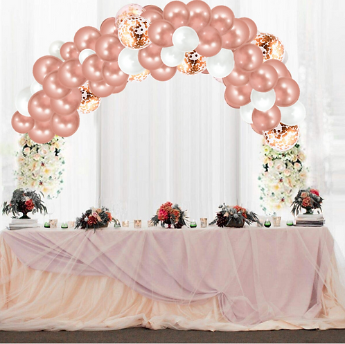 Rose Gold Themed Party/Birthday Balloon Combination