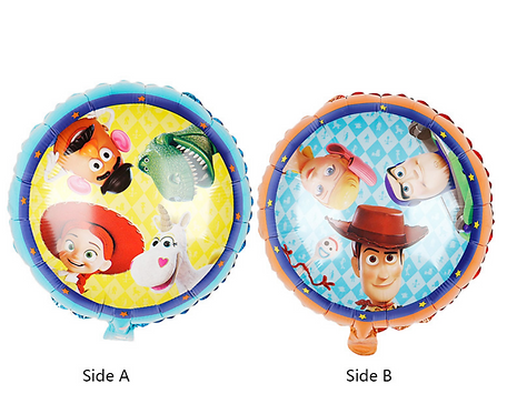 45*45cm Toy Story Double Sided Round Balloon