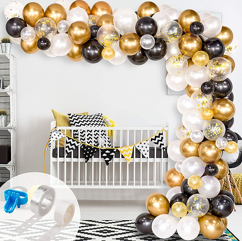 Black Gold Series Party Balloon Box Set - A