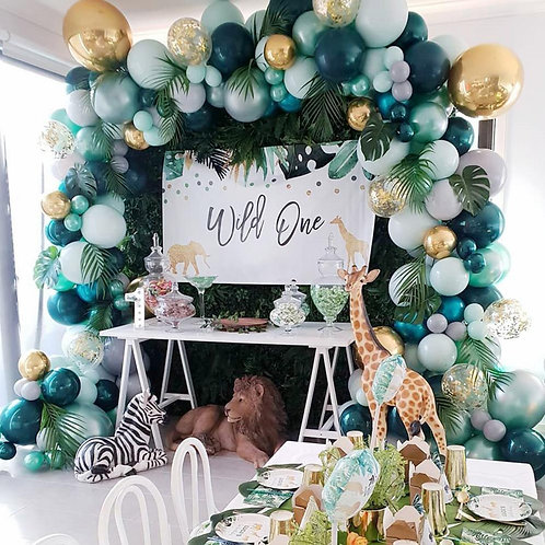 Green Themed Party Balloon Combination