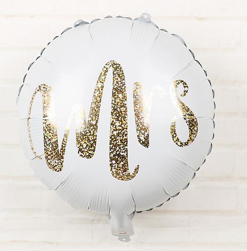 18 inch Word Mrs Round Foil Balloon