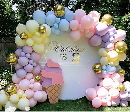 Gradient Macaroon Themed Party Balloon Combination