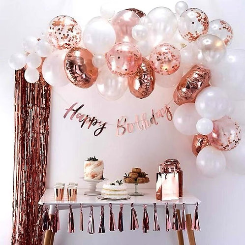 Festival/Party Rose Gold Balloon Box