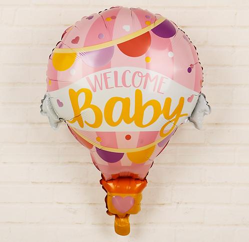79*62cm Pink Hot Air Balloon Foil Balloon