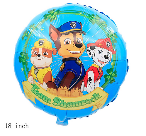 18 inch PAW Patrol Chase Group Foil Balloon