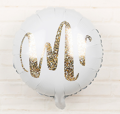 18 inch Word Mr Round Foil Balloon