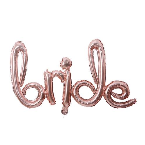 75*40cm Word BRIDE Rose Gold Foil Balloon