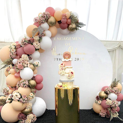 Beige Themed Party Balloon Combination