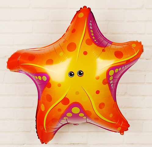 65*65cm High Quality Dancing Starfish Foil Balloon