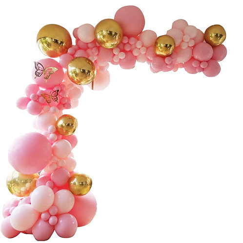 Pink Gold Themed Party Balloon Combination