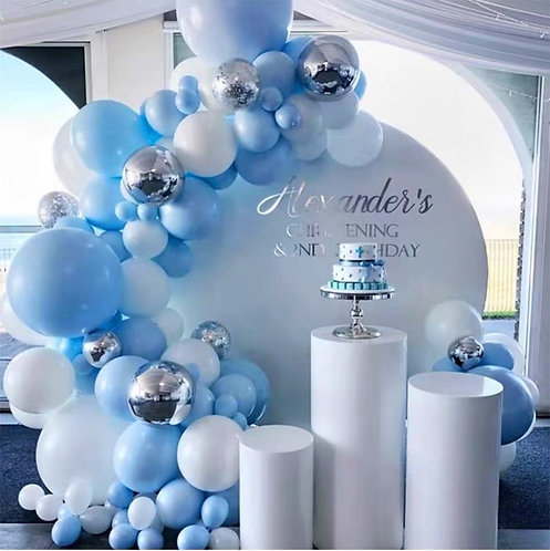 Blue Themed Party Balloon Combination Set - A