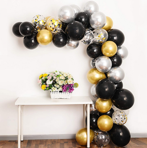 Black Gold Series Party Balloon Box Set - B
