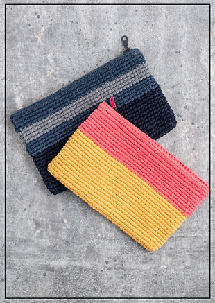 cooperative studio striped clutch