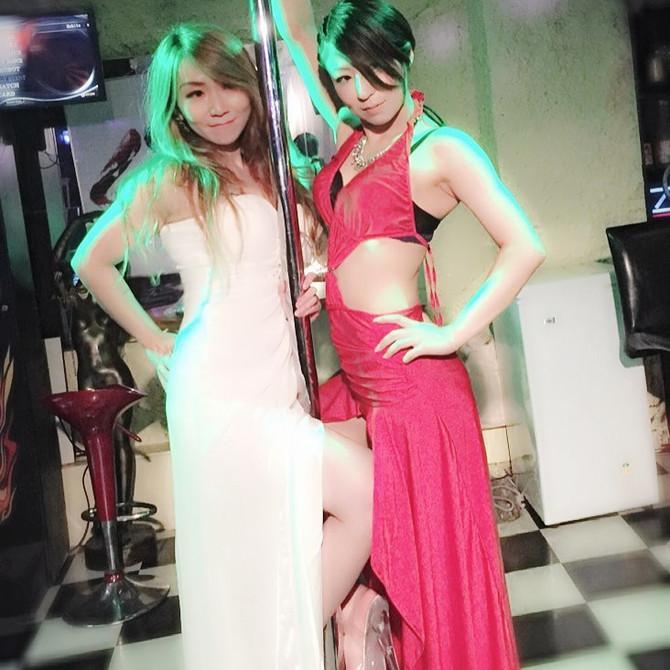ヒロミ&アミ💗 ドレスでダブルスポール