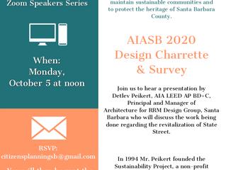 CPA's Zoom Speaker Series: AIASB 2020 Design Charrette & Survey