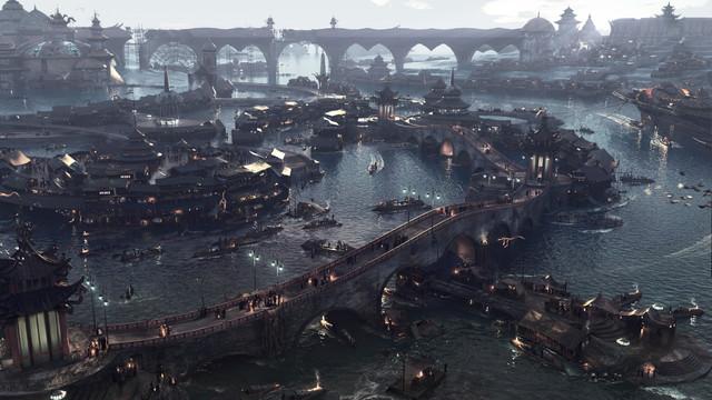 Nightfall, Floating Market