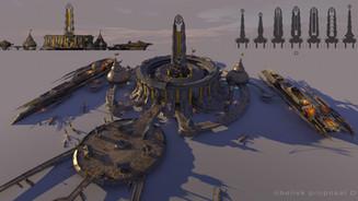 Nightfall, study for military complex