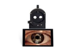 lampada a fessura digitale sl100 5x LED frey apparecchiature oculistica