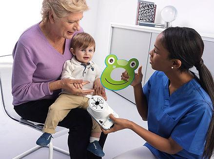 Autorefrattometro 2WIN portatile pediatrico a distanza