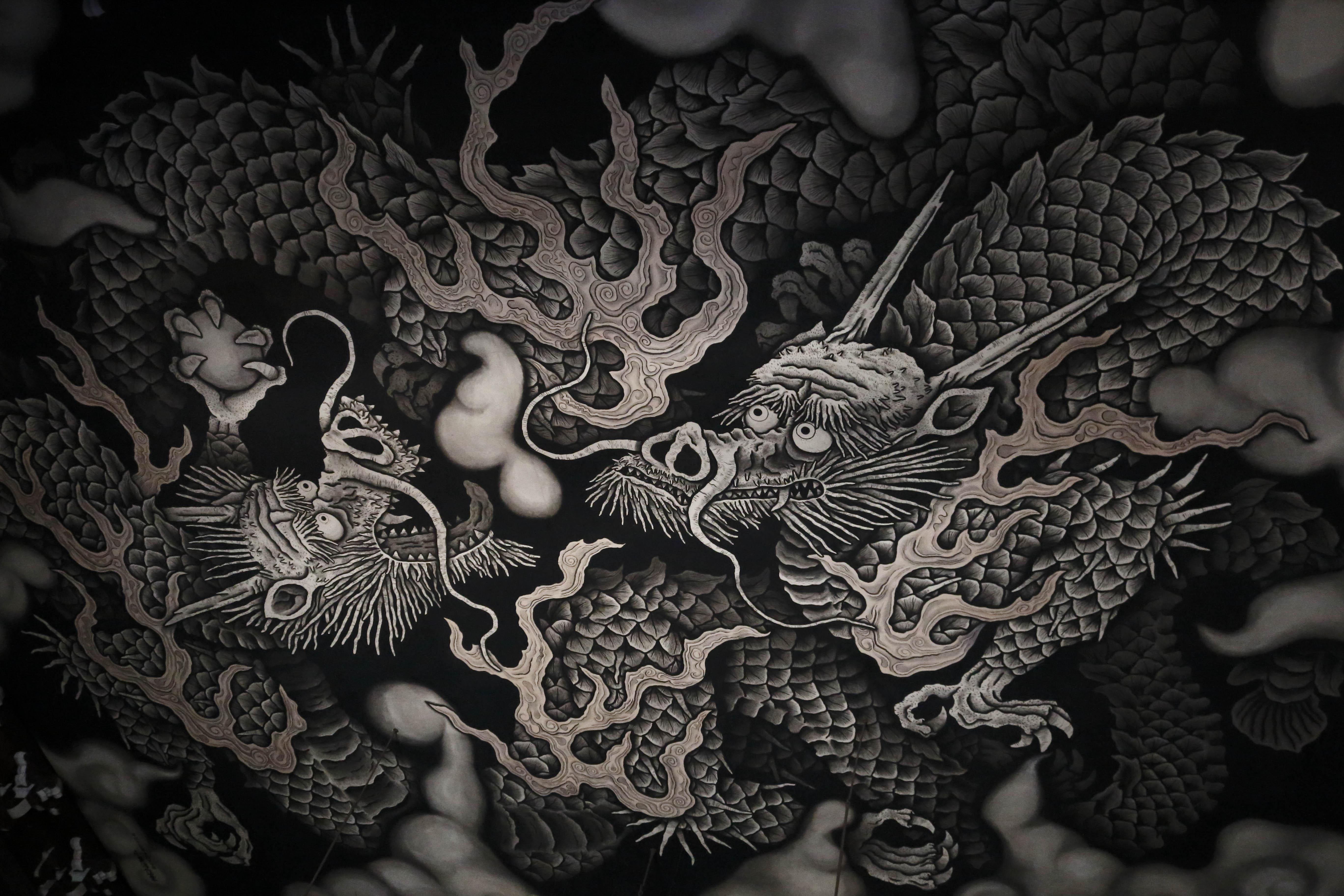 天井絵 龍dragon