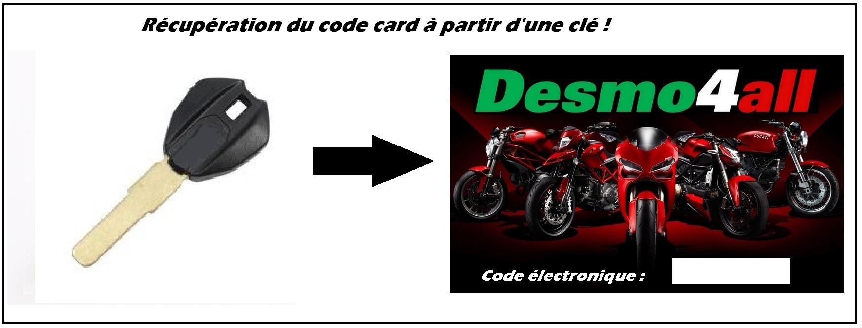 Ducati récupération du code card à parti d'une clé