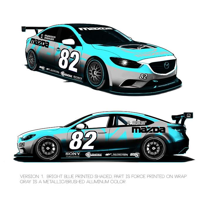 MAZADA 6 RACE CAR SKIN