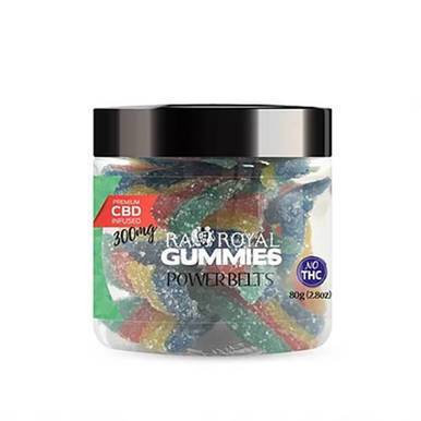 RA Royal CBD - CBD Edible - Power Belts Gummies - 300mg-1200mg