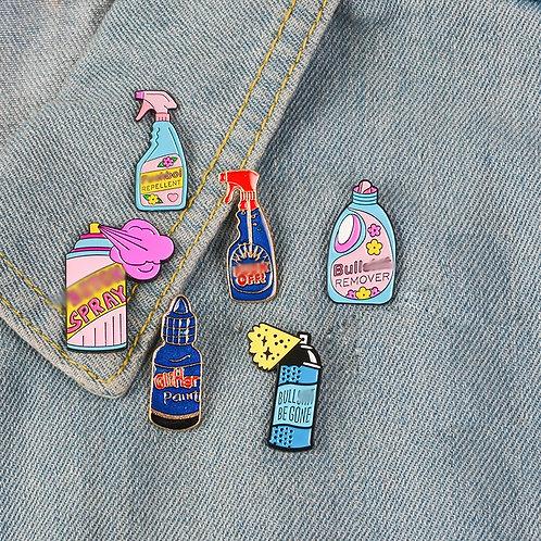 Button Big Bottle Paint Enamel Pin for Jackets Badge