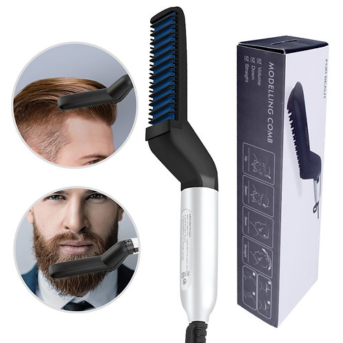 Hair Comb Brush Beard Straightener