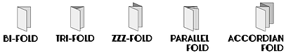 WCB5 Folding options for brochures