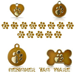 Elegance Mocha Designer Tag Ware