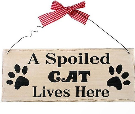 Fun Cat Signs, Cool Cat Signs By PET TAGS DIRECT Dublin Ireland,