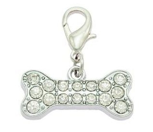 Large Crystal Bone Collar Charm By PET TAGS DIRECT.ie Dublin Ireland