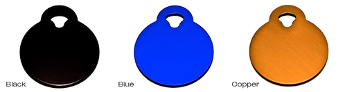 Cobalt Blue Circle Pet Tags By PET TAGS DIRECT.ie Available in Other Colors and Sizes
