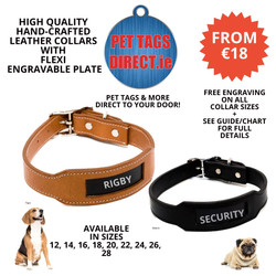 PET TAGS DIRECT HANDCRAFTED LEATHER COLL