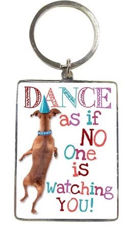 Fun Key Rings For Pet Lovers By PET TAGS DIRECT Dublin Ireland, Fun Dancing Dog Key Ring, Fun Giftware For Pet Lovers,