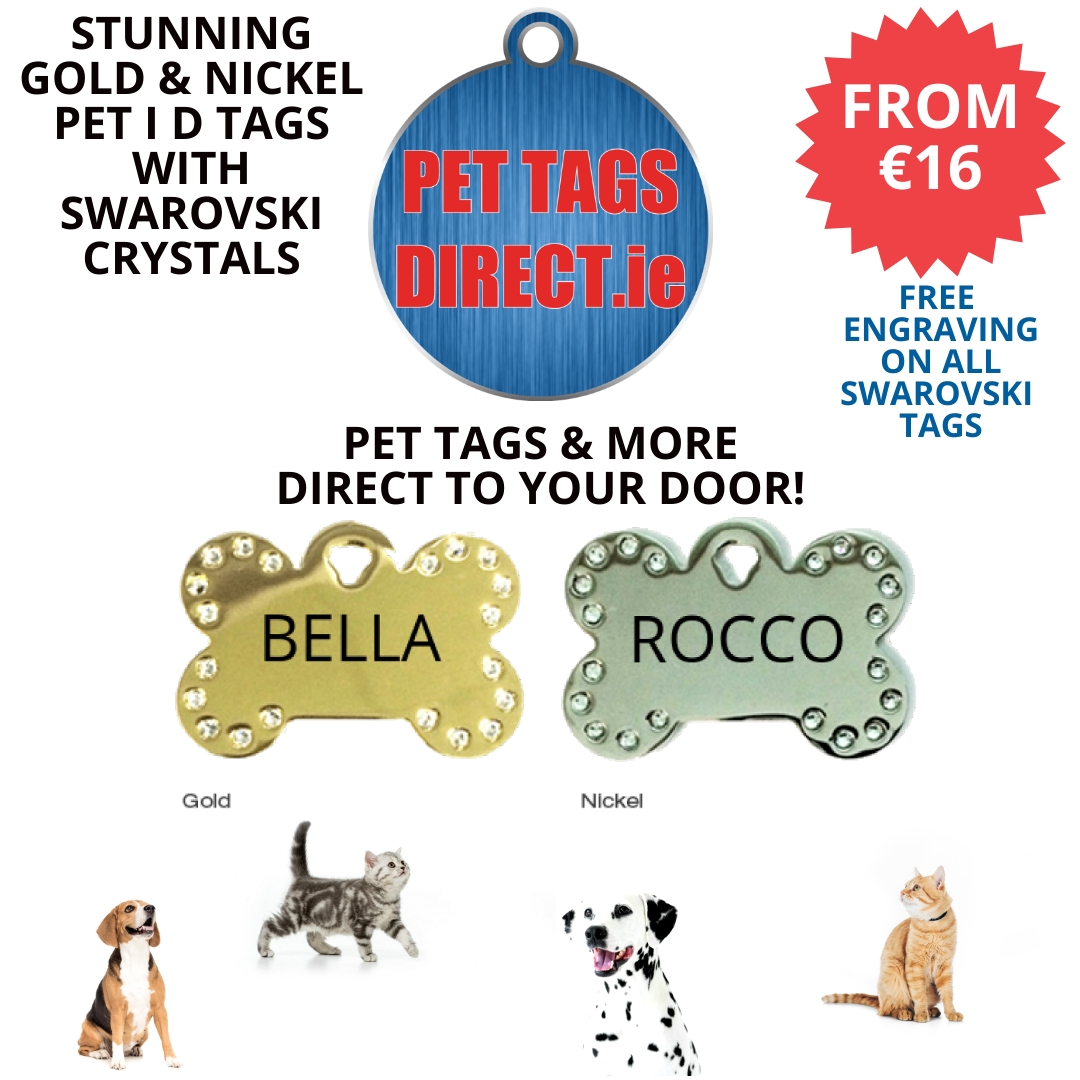 PET TAGS DIRECT GOLD & NICKEL DIAMANTE B