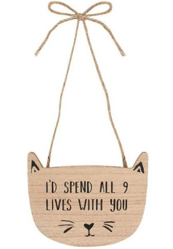 Hand Carved Wooden Cat Sign With Fun Saying Only A Cat Owner Would Know