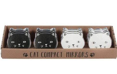 Cool Cat Compact Mirrors With Cute Button Nose & Whiskers By PET TAGS DIRECT Dublin Ireland,