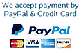 PayPal Visa Mastercard We Accept Payment
