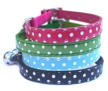 Custom Cat Collars Polka Dot By PET TAGS DIRECT Dublin Ireland