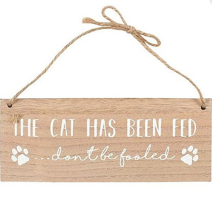 Fun Cat Signs 2 in 1, Hand Carved Wooden Cat Signs By PET TAGS DIRECT Dublin Ireland,